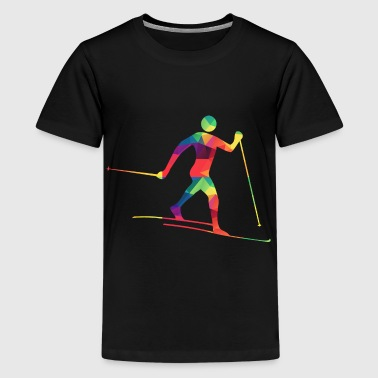 Bunter Langläufer - Teenager Premium T-Shirt