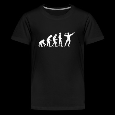 Evolution bodybuilder kraftsport sport athlet - Teenager Premium T-Shirt