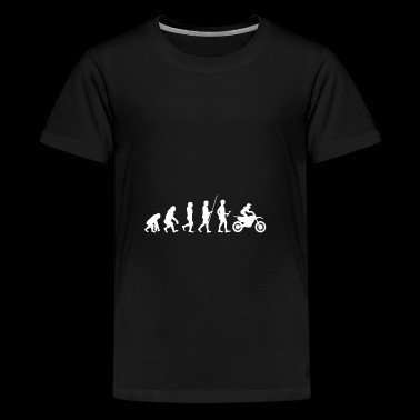 Evolution to the Motorcrosser T-Shirt Gift - Teenage Premium T-Shirt