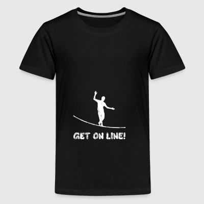 GET ON LINE Slackline Gift - Teenage Premium T-Shirt