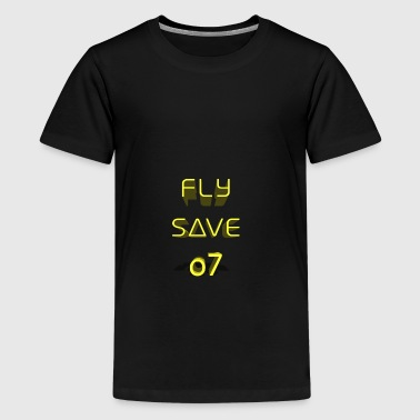 Fly Save 3D - Teenage Premium T-Shirt