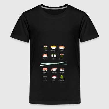 sushi kit3 sticks Übersicht bestellen to go food - Teenager Premium T-Shirt