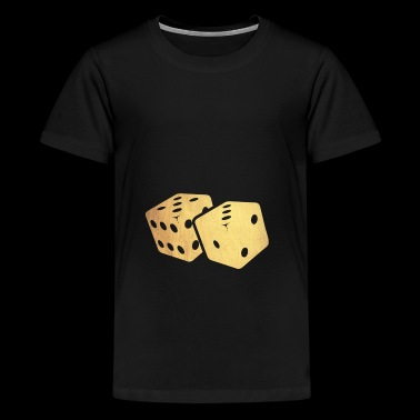 golden dice - Teenage Premium T-Shirt