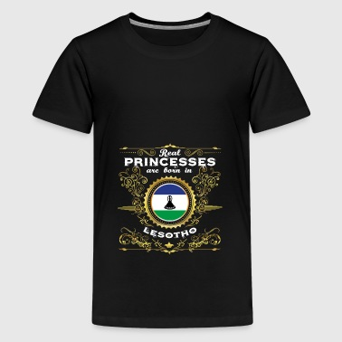 PRINCESS PRINCESS QUEEN BORN LESOTHO - Premium T-skjorte for tenåringer