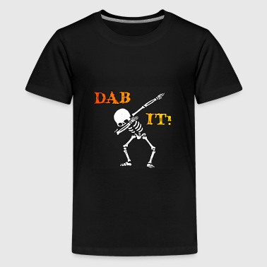 DAB IT - Skelett - Halloween - Helloween - Premium-T-shirt tonåring