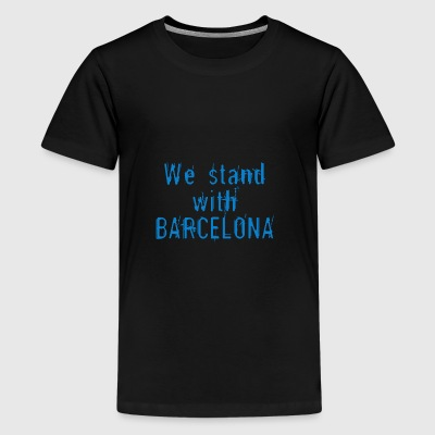 We staan ​​bij Barcelona - Teenager Premium T-shirt