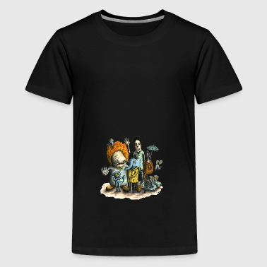 Gentle elefant and his friends - Teenager Premium T-Shirt