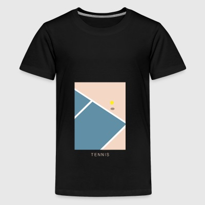 Tennis Art - Teenager Premium T-Shirt
