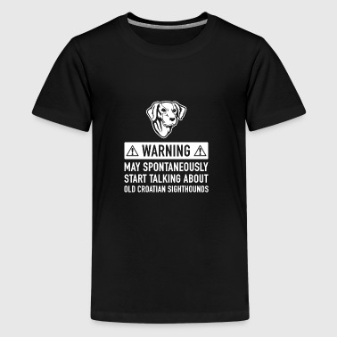 Funny Old Croatian Sighthound Gift Idea - Teenage Premium T-Shirt