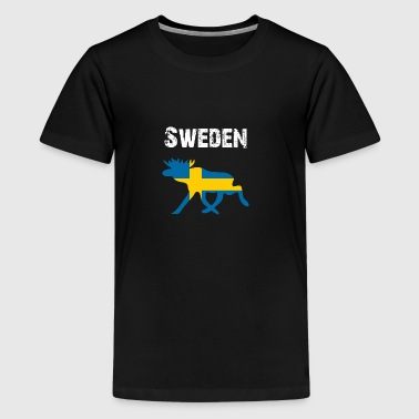 Nation-Design Sverige - Premium-T-shirt tonåring