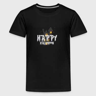 Happy Halloween Haunted Castle Haunted Castle Ghosts - Teenager premium T-shirt