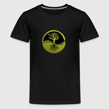 Tree with roots - Teenage Premium T-Shirt