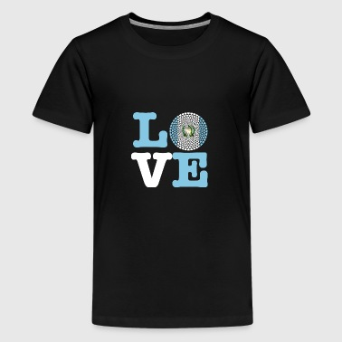 GUATEMALA HEART - Teenage Premium T-Shirt
