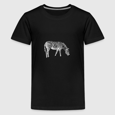 Zebra 2 - Teenager premium T-shirt