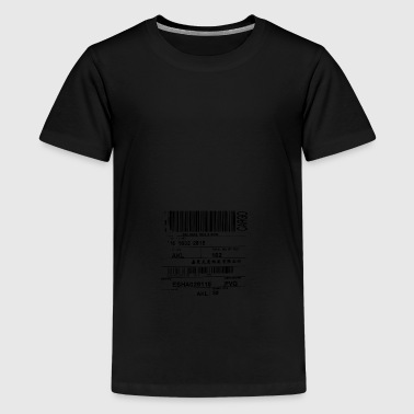 stregkode - Teenager premium T-shirt