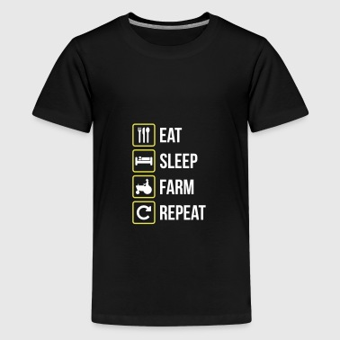 Eat Sleep Farm Repeat - Teenage Premium T-Shirt