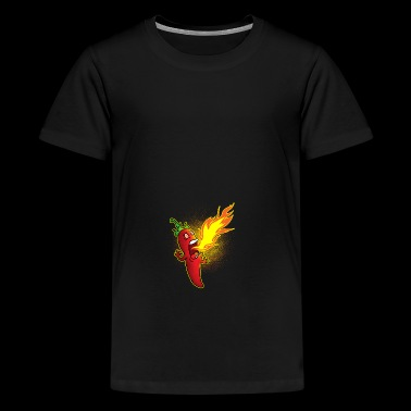 Chili spuwt vuur - Teenager Premium T-shirt