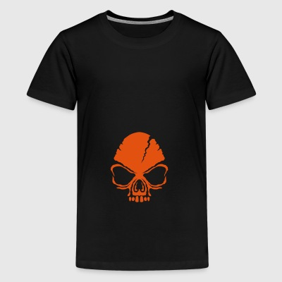 scary death head halloween open mouth - Teenage Premium T-Shirt