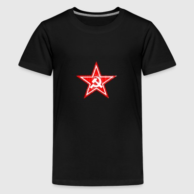 Hammer sickle communist star - Teenage Premium T-Shirt
