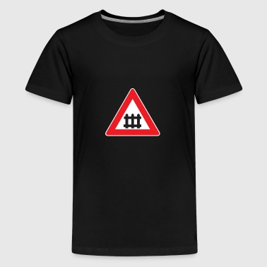 Warnschild Bahnübergang - Teenager Premium T-Shirt
