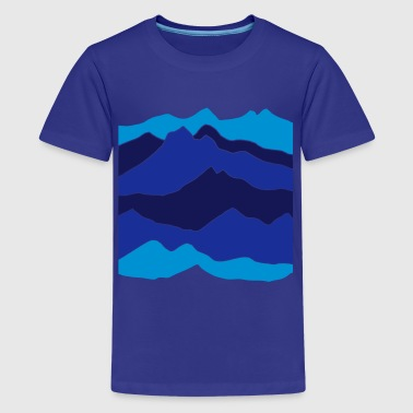 mountains - hill - nature - mount - Teenager premium T-shirt
