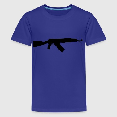 gun rifle - Teenage Premium T-Shirt