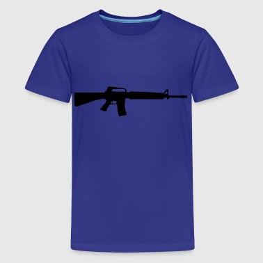 gun rifle weapon military m16 - Camiseta premium adolescente