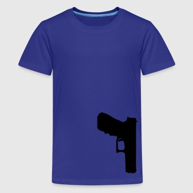 gun rifle pistol weapon military m16 - Camiseta premium adolescente