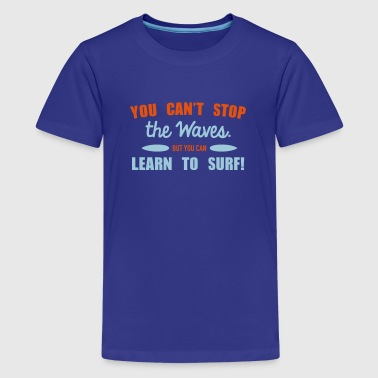 Learn to surf - Premium-T-shirt tonåring