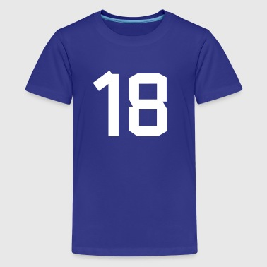 Number 18 - Teenage Premium T-Shirt