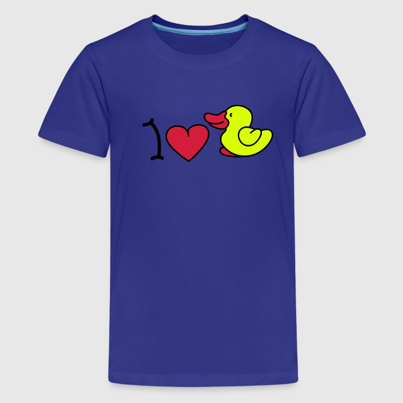 I love ducks - Teenage Premium T-Shirt