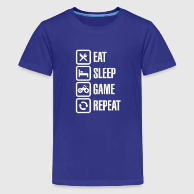 Eat sleep game repeat - Teenager Premium T-shirt