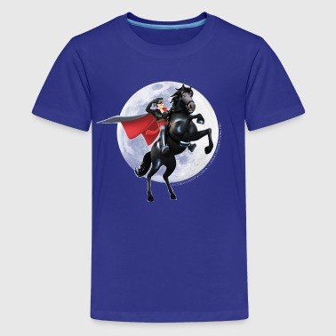 Zorro The Chronicles Horse Tornado Full Moon - Premium T-skjorte for tenåringer