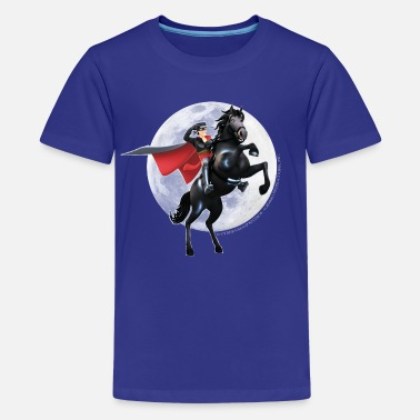 Zorro The Chronicles Horse Tornado Full Moon - Teenage Premium T-Shirt