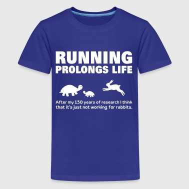 Funny Tortoise Running  fitness Road Running Cross Country - Teenage Premium T-Shirt