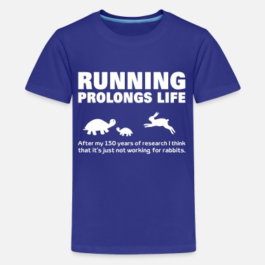 Funny Running Running  fitness Road Running Cross Country - Teenage Premium T-Shirt