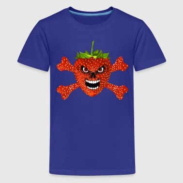 strawberry - fraise skull 02 - Teenager Premium T-Shirt