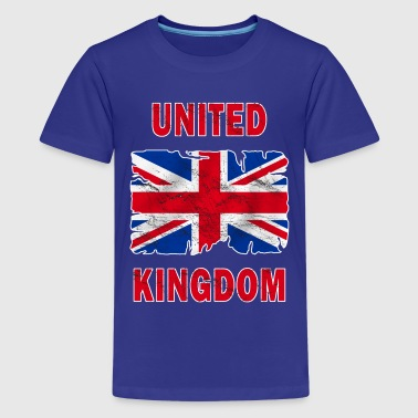 united kingdom grunge flag - Teenage Premium T-Shirt