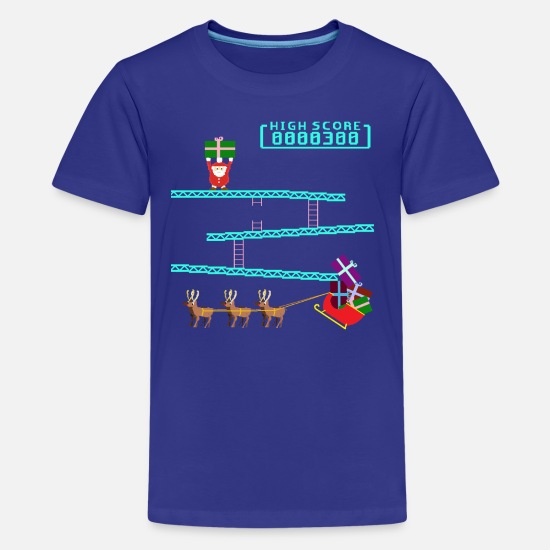 Christmas T-Shirts - Santa Kong - Teenage Premium T-Shirt royal blue