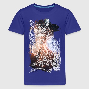 Cosmic Owl - Teenage Premium T-Shirt