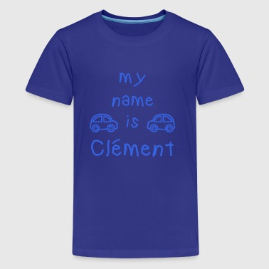 CLEMENT MY NAME IS - Premium T-skjorte for tenåringer