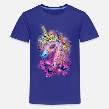 Unicorn Unicorn, rainbow, fantasy, magic, horse, pony - Teenage Premium T-Shirt