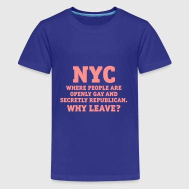 NYC People offen schwul gay heimlich Republikaner - Teenager Premium T-Shirt