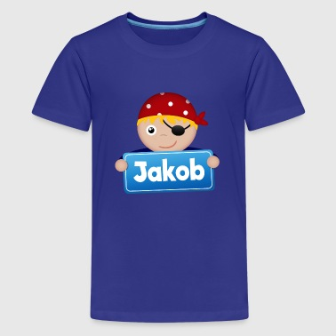 Lidt Pirate Jakob - Teenager premium T-shirt