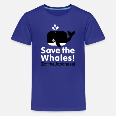 Jonas Save the Whales! Eat the Japanese - Teenager Premium T-shirt