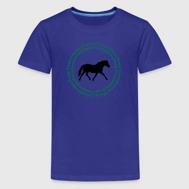 Caballo Connemara Pony -this design lets you change the colours - Teenage Premium T-Shirt