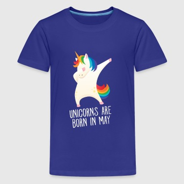 Unicorns Are Born In May - Birthday Gift - Teinien premium t-paita
