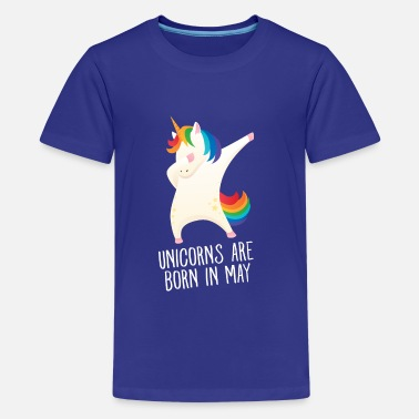 Unicorns Unicorns Are Born In May - Birthday Gift - Teinien premium t-paita