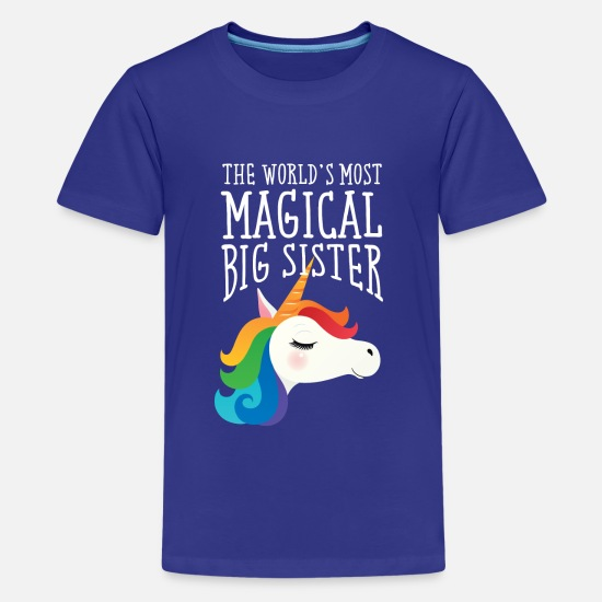 Schwester T-Shirts - World's Most Magical Big Sister - Unicorn - Teenager Premium T-Shirt Königsblau