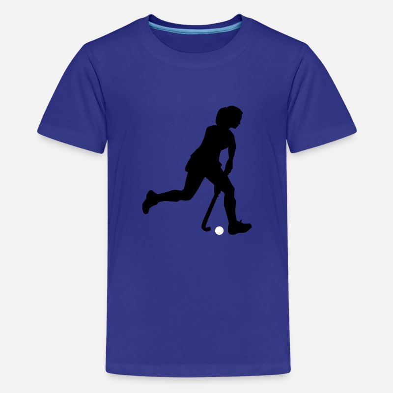 Hockey T-Shirts - hockey_woman_2c - Teenager premium T-shirt koningsblauw